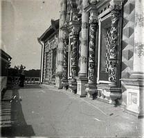 Галерея Трапезной в Троице-Сергиевой лавре. Западный фасад.