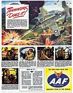 1944 Army Air Forces recruiting ad featuring the Fourteenth Air Force's 341st Bombardment Group (Medium)