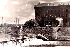 Гидроэлектростанция на Адамовской мельнице. 1950г.
