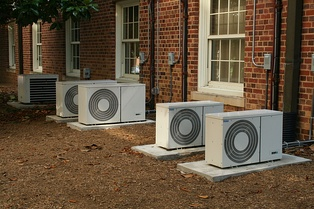 Air conditioning units outside a building