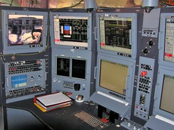 Flight test engineer's station on the lower deck of A380 F-WWOW