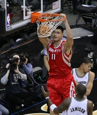Yao advanced to the second round of the playoffs for the only time in his career in 2009.
