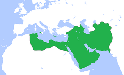 Abbasid Caliphate at its greatest extent, c. 850.