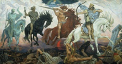 Viktor Vasnetsov, the Four Horsemen of the Apocalypse