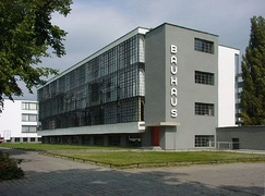 The Bauhaus school building in Dessau, Germany.