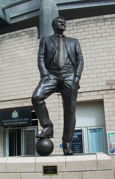 Statue outside St James' Park, Newcastle