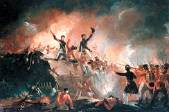 British forces attempted to storm Fort Erie on August 14, 1814 but were repelled by its American defenders.