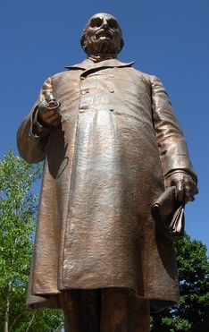 Statue of Dr. William Worrall Mayo near the Mayo Clinic in Rochester