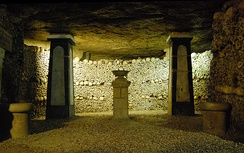 The Paris Catacombs hold the remains of approximately 6 million people.