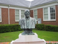 Bust of Charles P. Adams, the founder and first president of Grambling State University