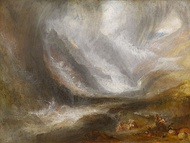 Valley of Aosta: Snowstorm, Avalanche and Thunderstorm, 1836-37, oil on canvas, Art Institute of Chicago