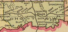 Map of Choctaw County, 1909