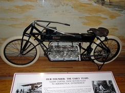 V8 Motorcycle of Glenn Curtiss. In 1907, Curtiss set an unofficial world record of 136.36 mph (219.45 km/h) on this 40 hp (30 kW), 4,000 cc V8 powered motorcycle of his own design and construction