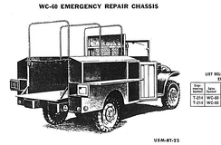 Dodge WC-60 Emergency Repair Chassis, M2