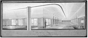 Interior drawing, Eaton's College Street department store, Toronto, Ontario, Canada