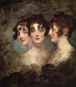 Elizabeth Patterson Bonaparte, triple portrait by Gilbert Stuart, 1804