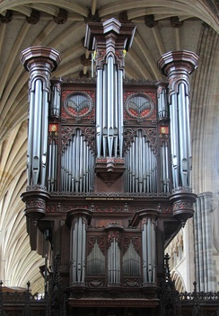 Organ by Loosemore in Exeter Cathedral