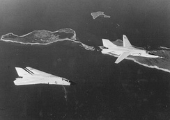 F-111Bs, BuNo 151970 and 151971, over Long Island during testing