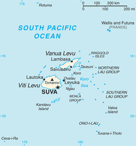 A map of Fiji