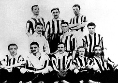 The Juventus team during the 1905 season in which they won their first league title