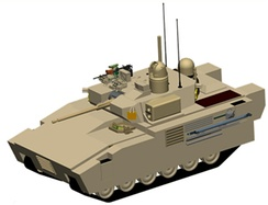 Artist's impression of the GCV Infantry Fighting Vehicle