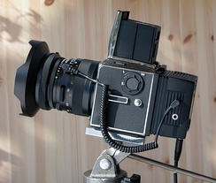Hasselblad 503CW with Ixpress V96C digital back, an example of a professional digital camera system