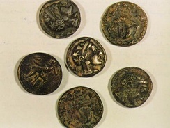 Ancient coins from Failaka Island, Kuwait.