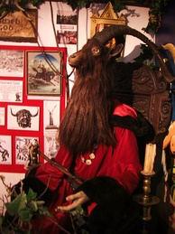 A sculpture of the Horned God of Wicca at the museum