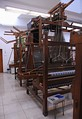 Hand operated Jacquard looms in the Textile Department of the Strzemiński Academy of Fine Arts in Łódź, Poland.