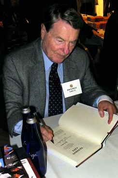 Lehrer signing copies of his book at the National Press Club Book Fair in 2011