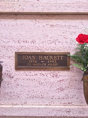 Crypt of Joan Hackett at Hollywood Forever