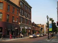 View of King William Street. Several areas in the downtown core saw growth as a centre for art.