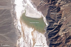 Lake Badwater, February 9, 2005. Landsat 5 satellite photo
