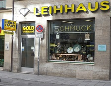 A pawnshop business in Germany in 2014.