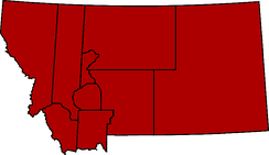 Original 9 Montana counties