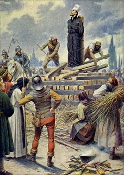 Execution of Jan Hus in 1415.