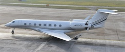 Gulfstream G650ER jet owned by The Blackstone Group.