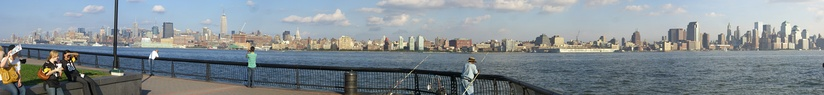 Panorama of Manhattan from Pier A