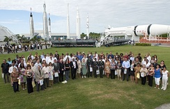 A U.S. naturalization ceremony at the Kennedy Space Center, 2010.