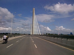 Nyerere Bridge in Kigamboni, Dar es Salaam, is Tanzania's and East Africa's only suspension bridge