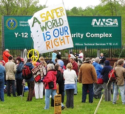 April 2011 OREPA rally at the Y-12 nuclear weapons plant entrance