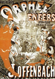 Poster for a 19th-century production of Orpheus in the Underworld