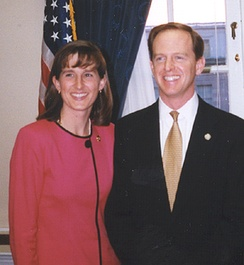 Pat and his wife Kris Toomey in 1999