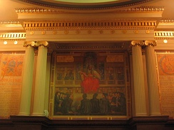 Mural on the wall of the Pennsylvania Supreme Court's chambers in the Pennsylvania State Capitol