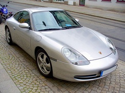 The front end of the early 996 Carrera models shared with the entry-level Boxster was highly controversial among Porsche customers