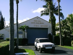 Town hall, police, and fire station in South Palm Beach, Florida, United States