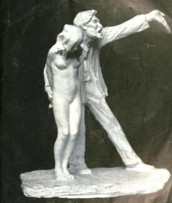 Statue entitled The White Slave by Abastenia St. Leger Eberle, a controversial sculpture meant to depict modern western sexual enslavement