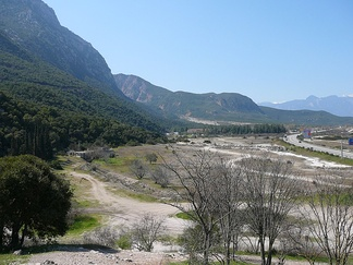 The pass of Thermopylae