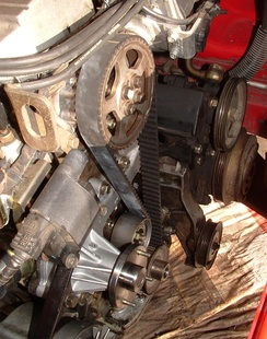 Timing belt, Nissan RB30E Engine