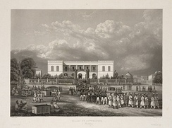 View of the Palace of the Governor of Pondicherry in 1850